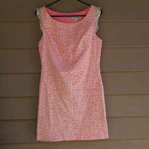 Jessica Simpson Spring Pink Lace Dress Size 8